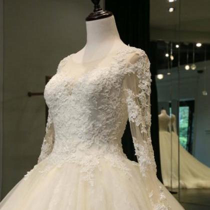 Long Sleeves Wedding Dress, Wedding..