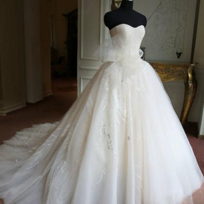 Real Samples Ball Gown Wedding Dress,Sweetheart Neck Wedding Gown ...