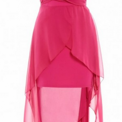 Strapless Party Dress, High Low Pro..