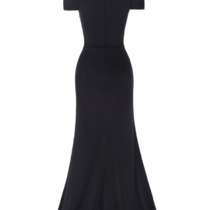 Kate Kasin's black ball gown, gown,..