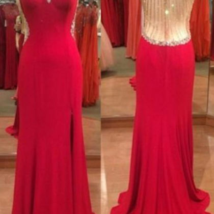 Fashion Long Prom Dress, Halter ,Be..