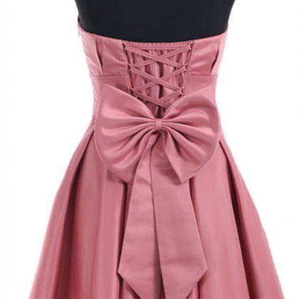 Strapless Ruched Short Homecoming D..