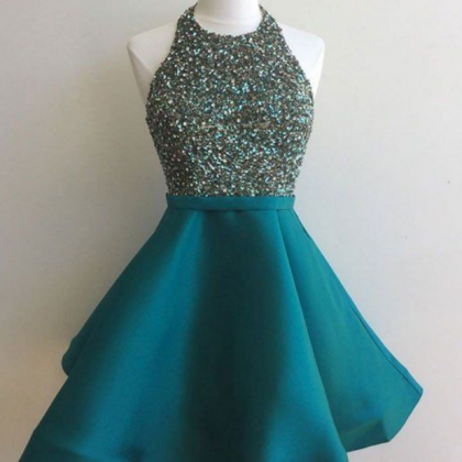 sequin short green prom dress, home..