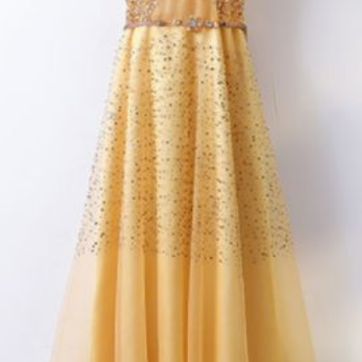 Formal Prom Dress With Sleeves,V Ne..