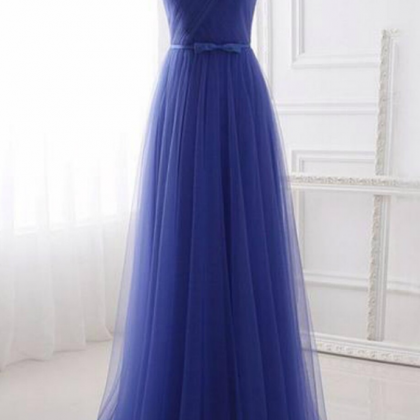 Cheap Tulle Strapless Long Simple P..