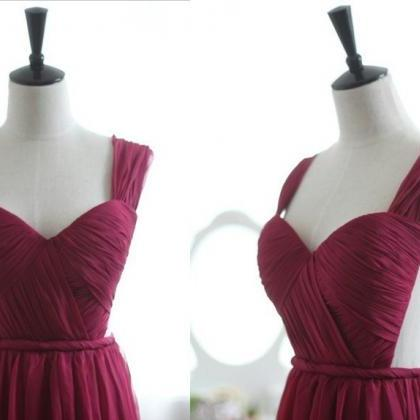 Custom Made Burgundy Prom Dresses S..