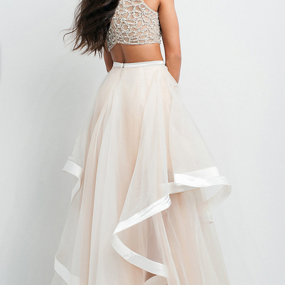 2015 Long Popular Two Piece Prom Dr..