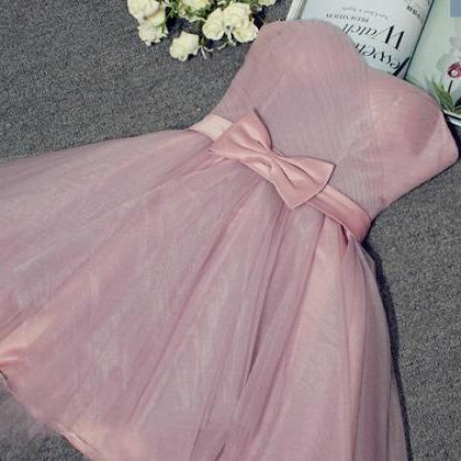 Cute Short Tulle Sweetheart Prom Dr..