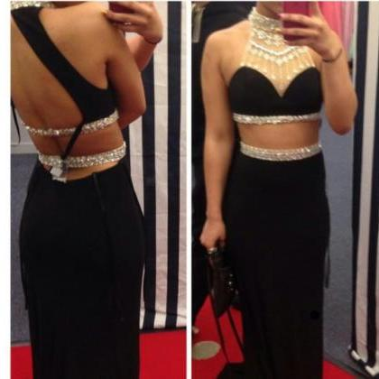 New Design Backless Beading Black 2..
