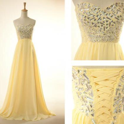 Prom Dress Sweetheart Prom Dress Se..