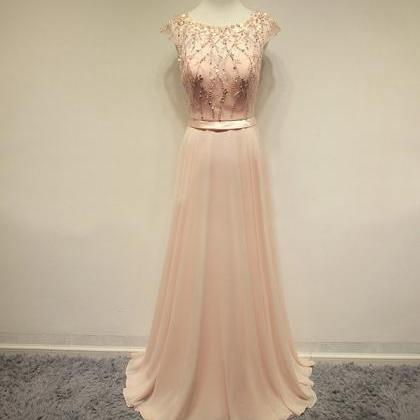 Prom Dresses,Blush Pink Evening Gow..