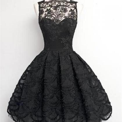 Short Homecoming Dress,Black Homeco..