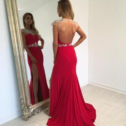 Sexy Prom Dresses,Red Prom Dress,Ch..