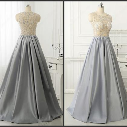 Prom Dresses,Gray Prom Dress,Forma..