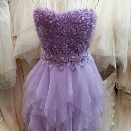 Lilac Homecoming Dress,2017 Homeco..