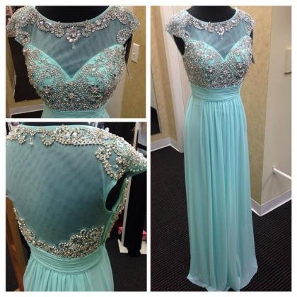 Mint green chiffon and tulle boat n..
