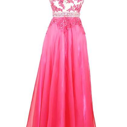Prom Gown,Pretty A-line V-neck Long..