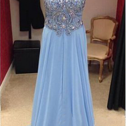long prom dress, blue prom dress, ..
