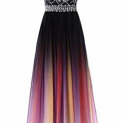 89237522597 Bealegantom Halter Gradient Prom Dresses With Long Chiffon Plus Size Ombre  Evening Party Gowns Vestido Longo