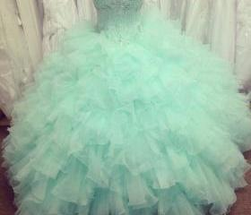Mint Ball Gown Organ..
