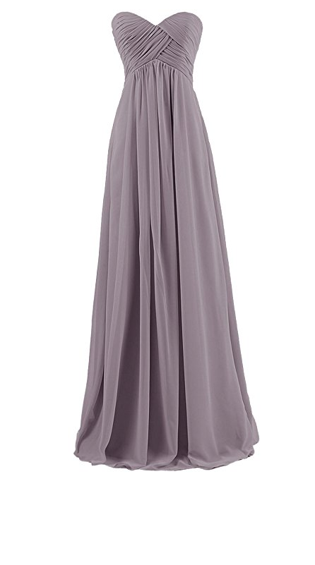 Custom Made Grey Ruched Sweetheart Neckline A Line Floor Length Guest Wedding Dress, Bridesmaid Dress