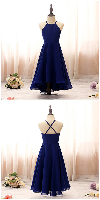 Flower Girl Dress,Evening Dresses For Girls Offshoulder Dress Wedding Princess Flower Girls Prom Dresses Halter Cross Strap Children Dress