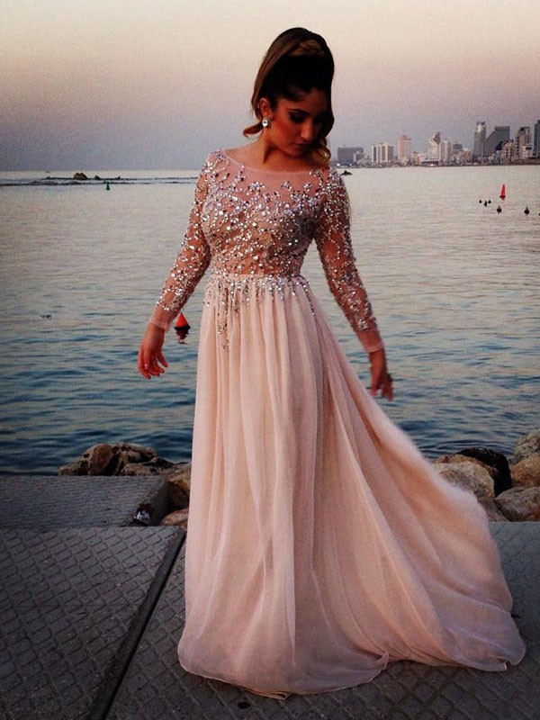 407f735c0b3 High Quality Long Sleeve Prom Dress Sexy Prom Dress A-LINE EveNing dresses  Chiffon Applique Homecoming Dress PROM DRESS LONG DRESSES A-Line DRESSES  PARTY ...