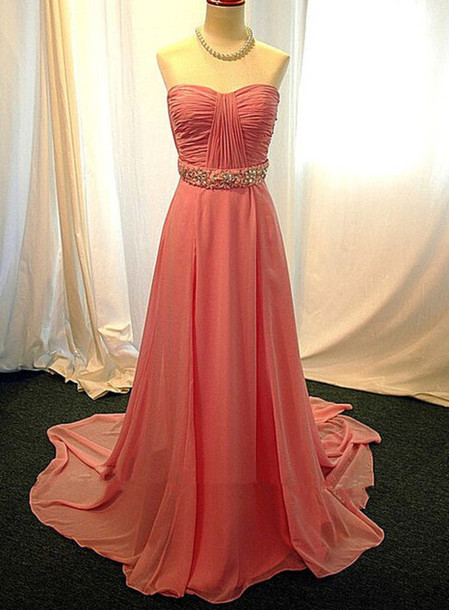 High Quality Prom Dress Chiffon Prom Dress A-Line Prom Dress Strapless Prom Dress Brief Prom Dress