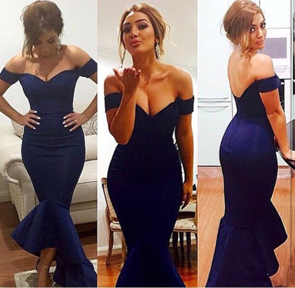Long Prom Dress, Cap Sleeve Prom Dress, Royal Blue Prom Dress ...
