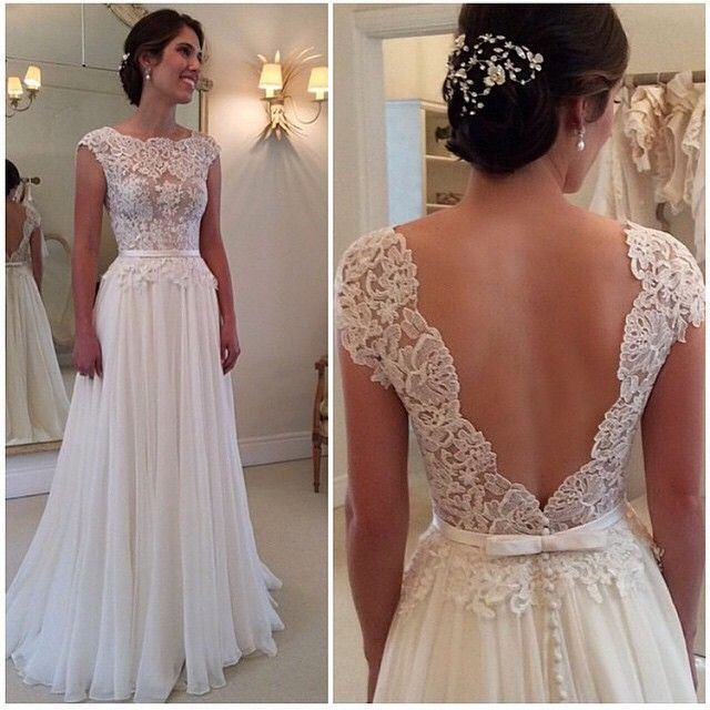 Wedding dresses backless wedding dresses elegant wedding dresses wedding dresses backless wedding dresses elegant wedding dresses lace wedding gown ivory a line wedding gowns chiffon bridal dresses junglespirit Choice Image