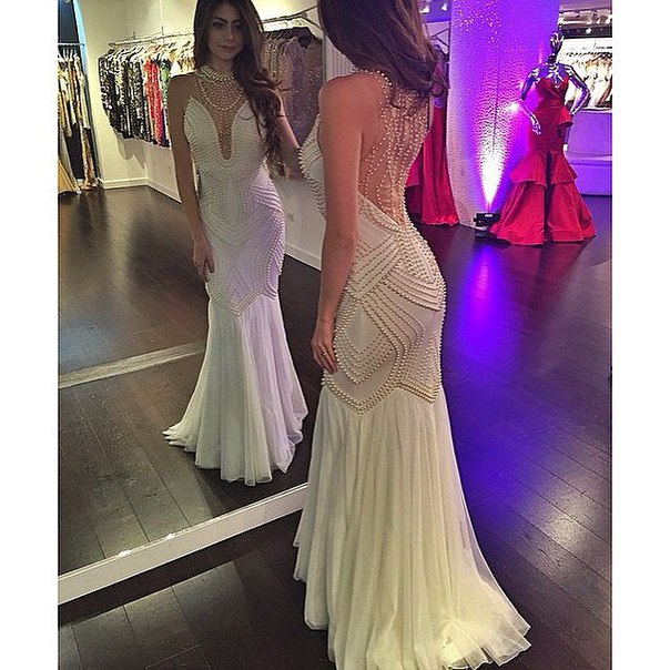 d24071a4 White Prom Dresses,Mermaid Prom Dress,White Prom Gown,Sequin Prom Gowns,Elegant  Evening Dress,Modest Evening Gowns,Sexy Party Gowns,prom Dress