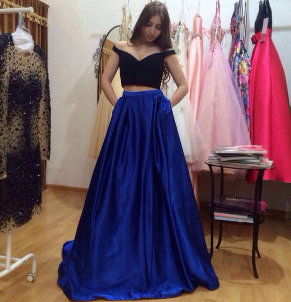 352c6aaa8ae0 2 Piece Prom Gown,Two Piece Prom Dresses,black Evening Gowns,2 Pieces Party  Dresses,Evening Gowns,Formal Dress,Evening Gowns For Teens