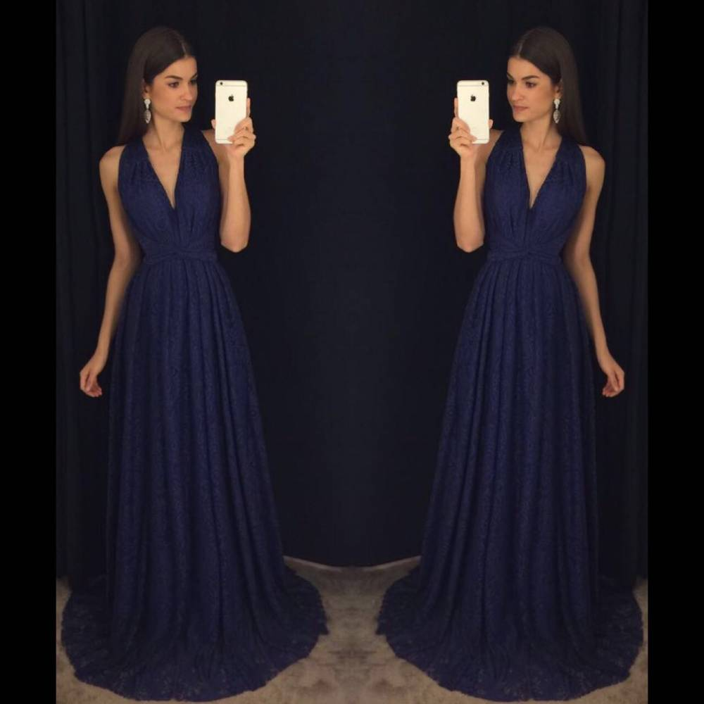 Navy Blue Prom Dresses,Elegant Evening Dresses,Long Formal Gowns ...