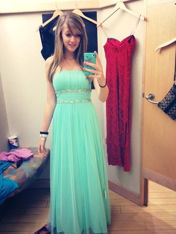 Mint Green Prom Dressessweetheart Evening Gownsmodest Formal