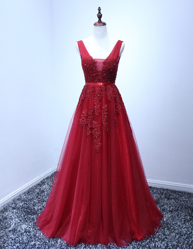 Wine Red Prom Dressesprom Dressprom Gowntulle Prom Gownselegant