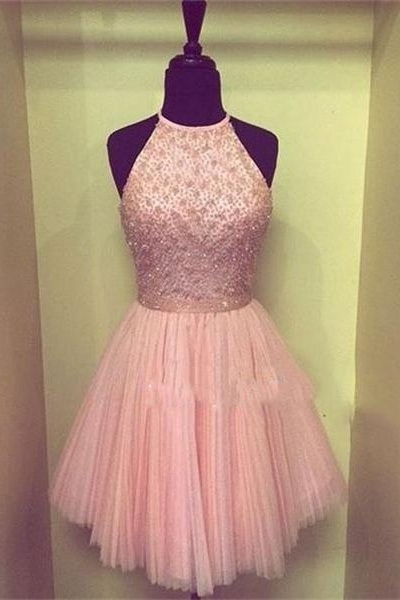 Pink Homecoming Dresses,Homecoming Dress, Cute Homecoming Dresses,Tulle Homecoming Gowns,Short Prom Gown