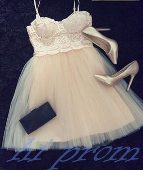 Lace Homecoming Dress,Champagne Prom Dress,Cheap Homecoming Dress,Straps Homecoming Dresses,Short Prom Dress,Simple Homecoming Gowns,Tulle Sweet 16 Dress