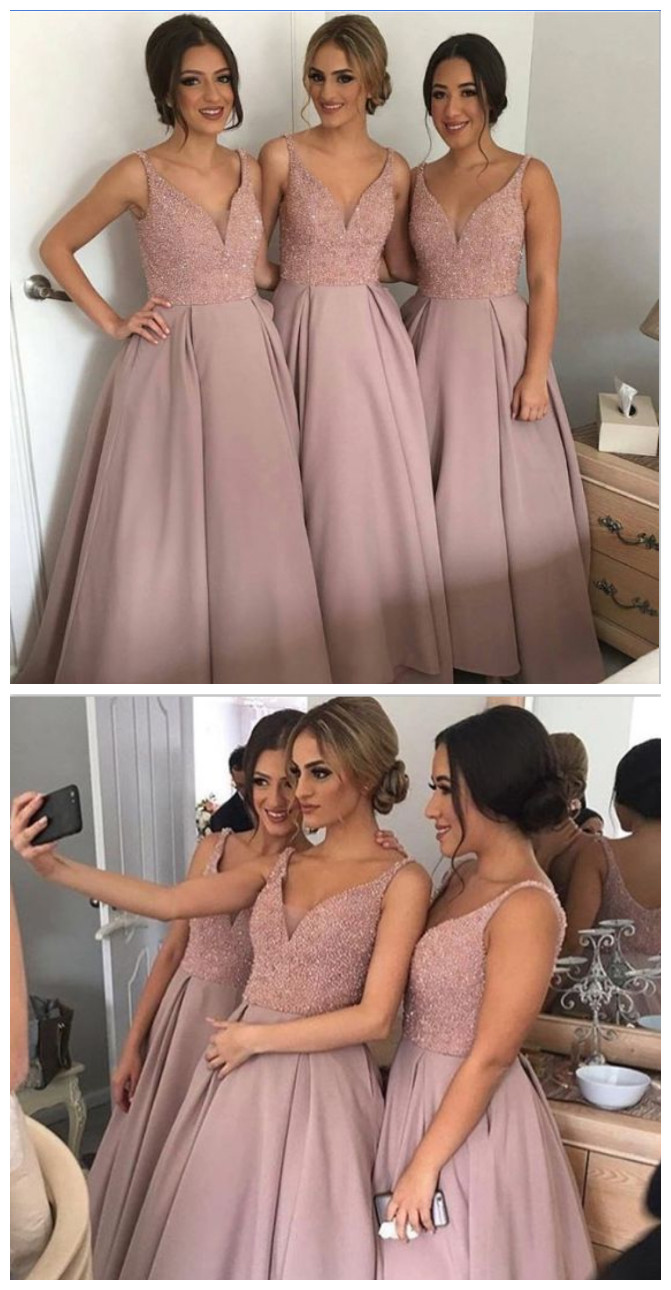 Long a line bridesmaid dress dusty rose bridesmaid dressbeaded long a line bridesmaid dress dusty rose bridesmaid dressbeaded top bridesmaid dress ombrellifo Image collections