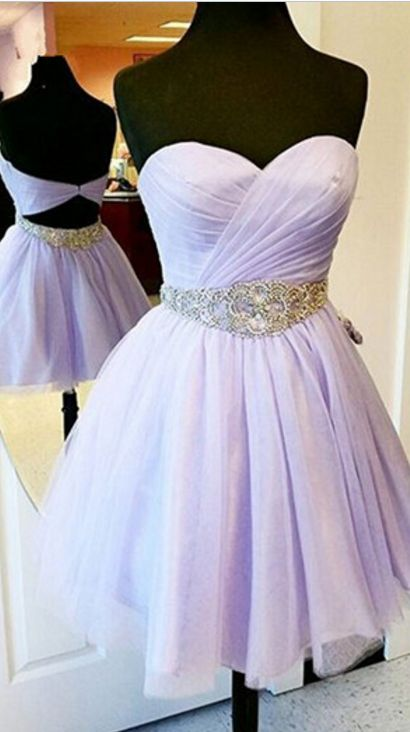 cf311ba49581 Charming Short Prom Dresses,Lavender Prom Dresses,Chiffon Prom Dresses,Strapless  Prom Dresses,Sweetheart Prom Gowns,homecoming dresses