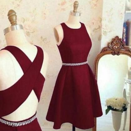 c217aa97608 Lovely Cute Prom Dresses,Short Prom Dresses,Burgundy Homecoming ...