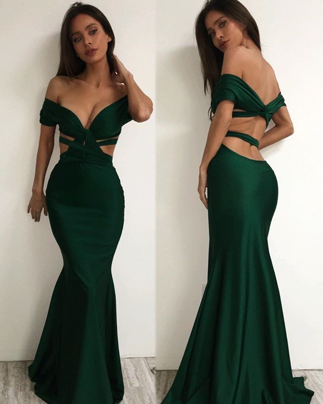 afd37148128 Dark Green Mermaid Prom Dresses