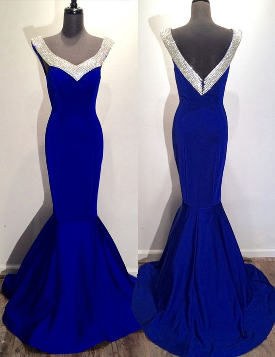 Prom Dress,Beading Prom Dress,Backless Evening Dress