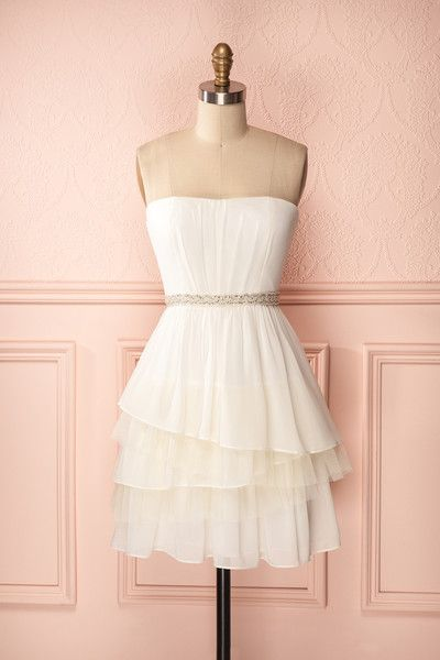 Prom Dress, White Prom Gowns, Mini Short Homecoming Dress
