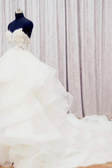 Ball Gown Wedding Dress,Long Wedding Dresses, Wedding Dress,Wedding Dress,Wedding Gown,Bridal Gown,Bride Dresses, Princess Wedding Dress,Puffy Wedding Gown,Sweetheart Wedding Dress,Tiered Wedding Dress,Ruffles Wedding Gown,Lace Wedding Dress,Pearls Wedding Gown,Floral Bridal Gowns,Plus Size Wedding Dress