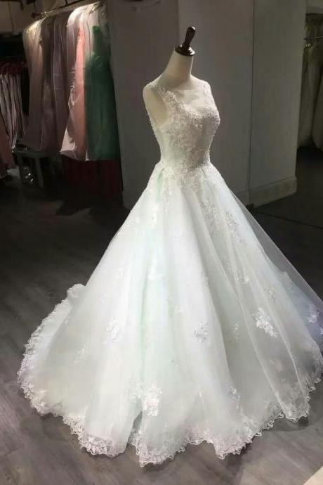 Wedding Dress,Wedding Gown,Bridal Gown,Bride Dresses, Ivory Wedding Dress,Long Wedding Dresses, Sexy Wedding Dress,Backless Wedding Dresses,Lace Bridal Dresses,Beaded Wedding Gown,Wedding Dress 2017,A-line Wedding Dress ,Organza Wedding Dress