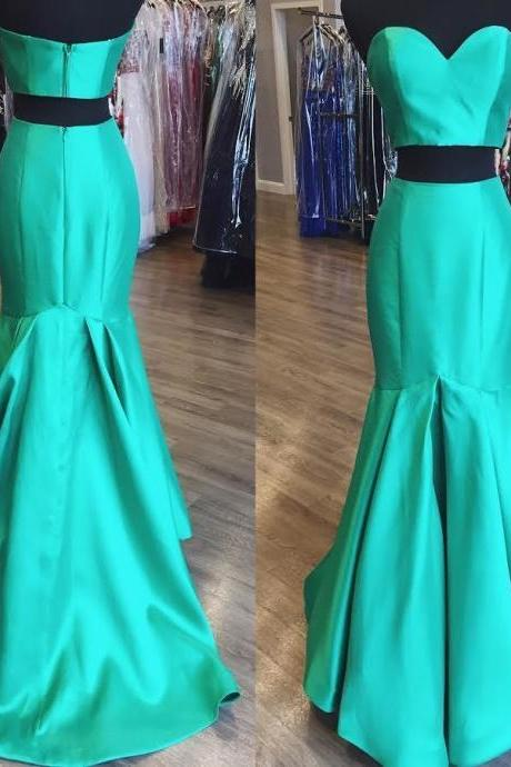 Two Piece Mermaid Prom Dresses Wedding Party Dresses Formal Dresses Sweet 16 Dresses Banquet Dresses