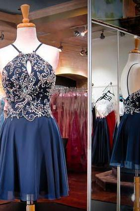 New Arrival Rhinestone Homecoming Dresses, Chiffon Homecoming Dresses, High Quality Homecoming Dresses, Sexy Homecoming Dresses, Short Prom Dresses