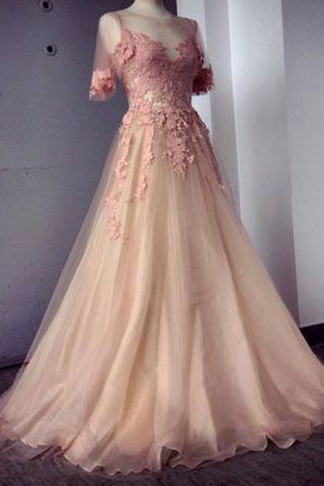 Custom Made Off Shoulder Dark Red Long Prom Dresses, Long Evening Dresses, Formal Dresses,Appliques and Tulle Prom Dresses,