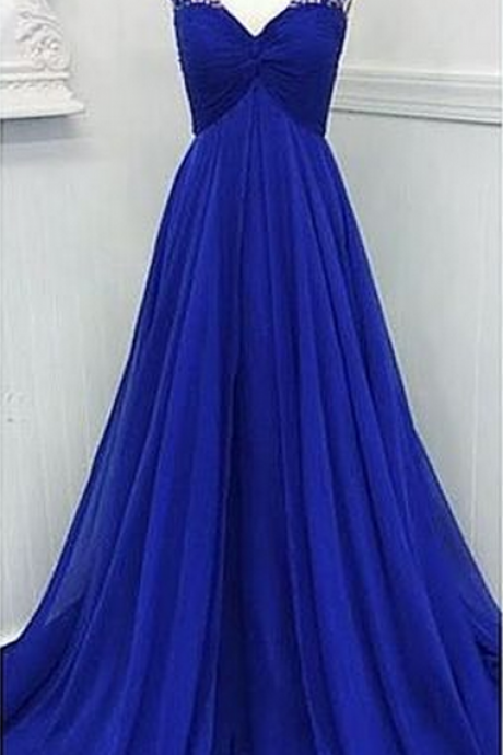 Prom Gown,Royal blue Prom Dresses,Evening Gowns,Formal Dresses,Royal blue Prom Dresses