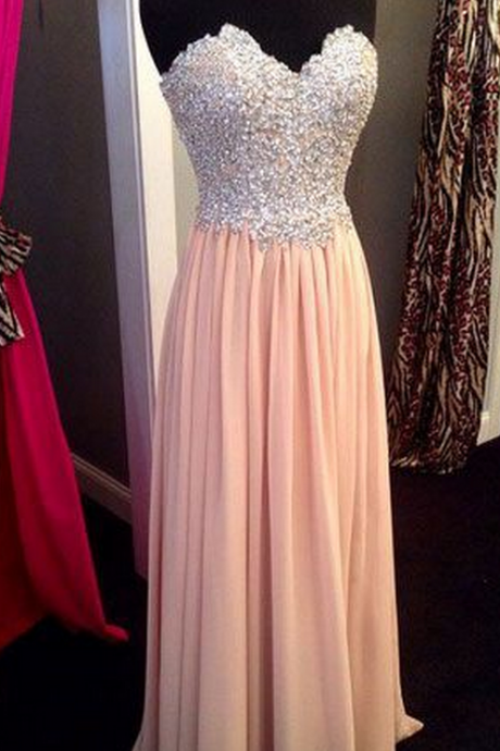 Strapless Prom Dress ,Sexy Long prom dress, Sleeveless Prom Dress ,high quality prom dress,beautiful beading prom dress